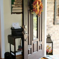 Creating a Welcoming Harvest entryway