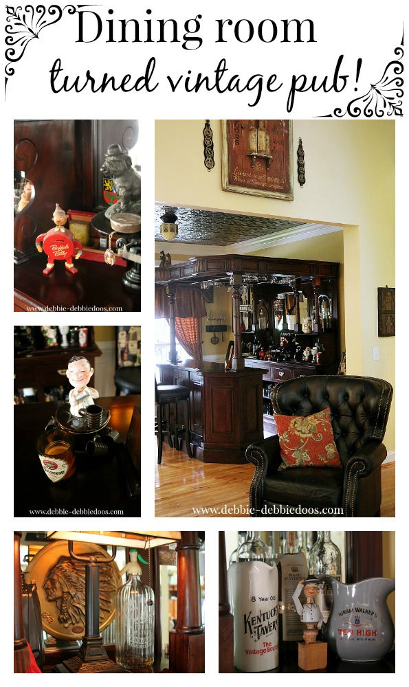Dining room turned Irish pub