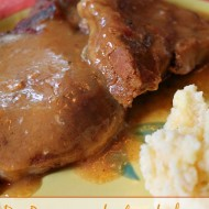 Dr. Pepper crockpot pork chops