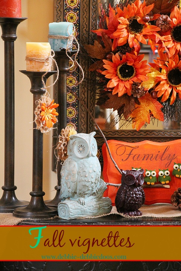 Fall vignettes with owls