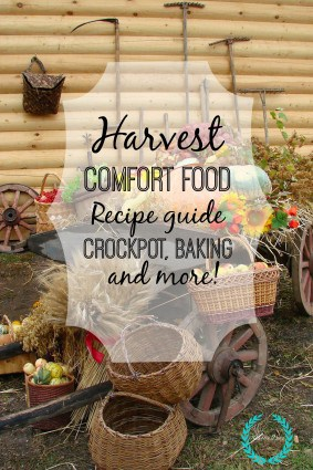 Harvest comfort food recipe guide. Crockpot, baking and more