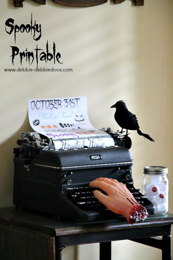 Spooky Halloween printable