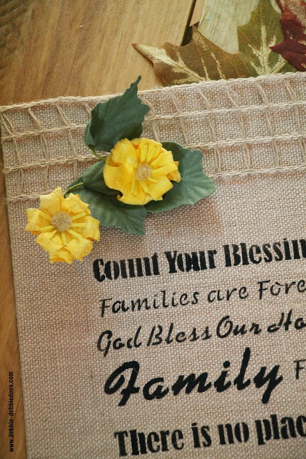 embellished burlap art