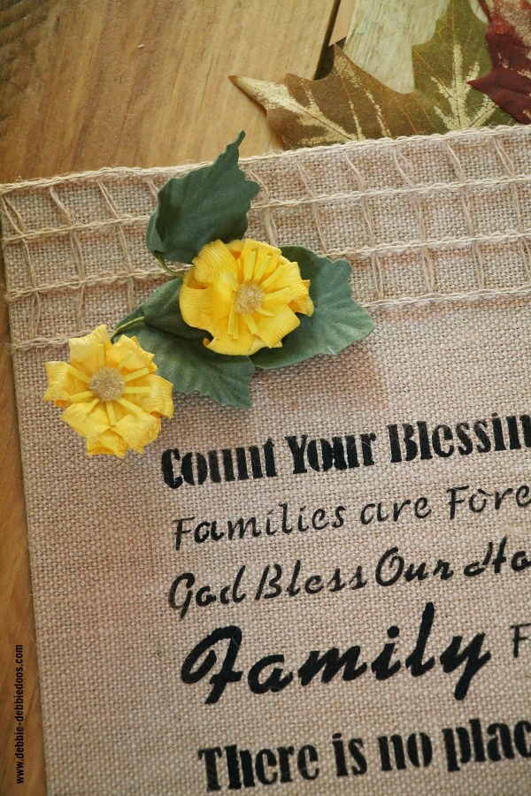 Burlap canvas Kitchen art work - Debbiedoos