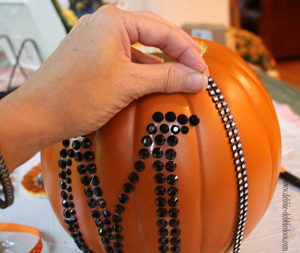 embellishing a pumpkin