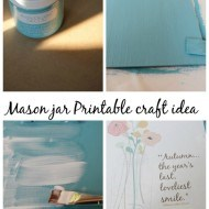 Mason jar printable clipboard craft