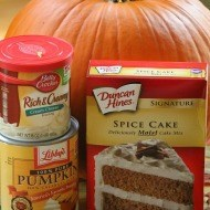 Two ingredients pumpkin spice cookies