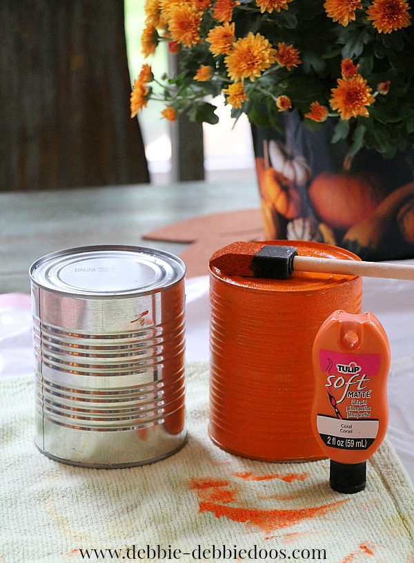 tin can pumpkin craft pumpkin tin can craft debbiedoos 5586