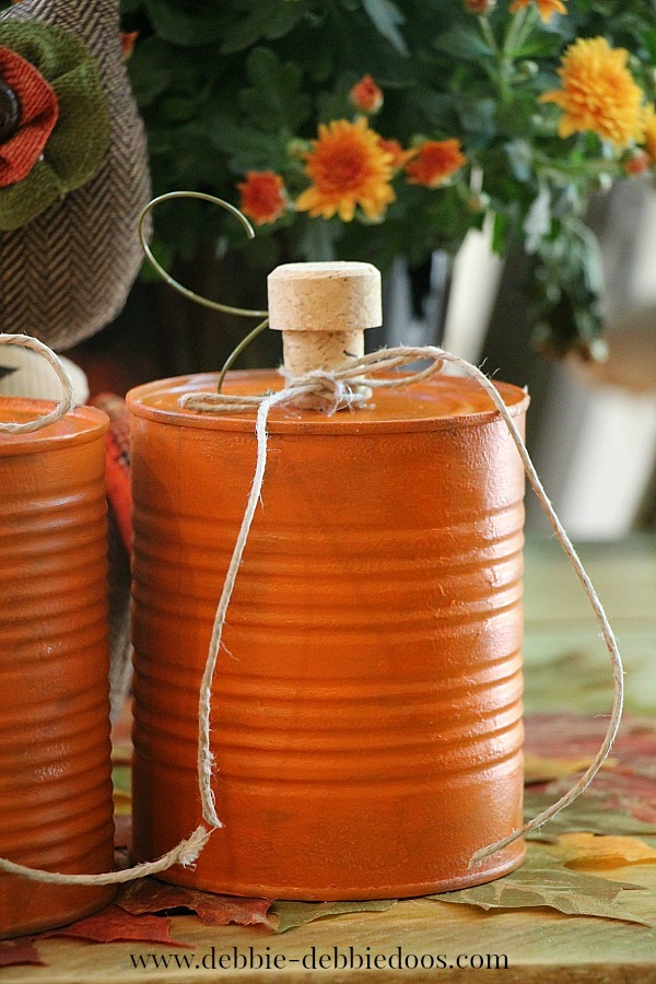 pumpkin tin can craft