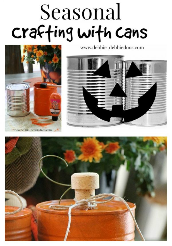 seasonal crafting with cans