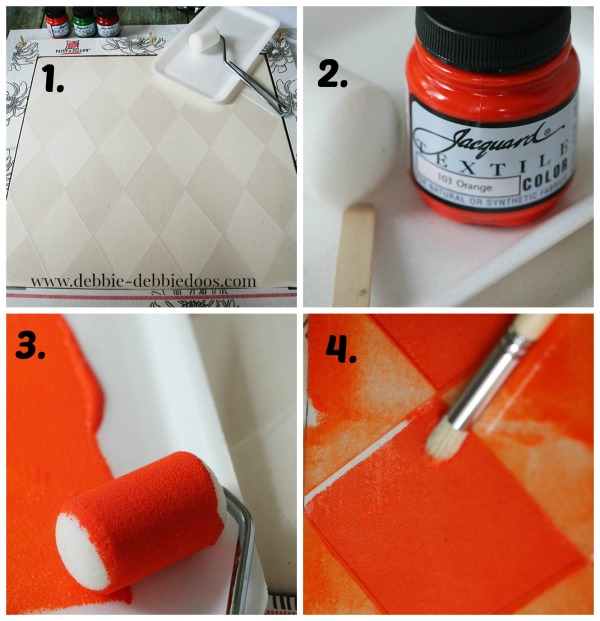 step by step Paint-a-pillow