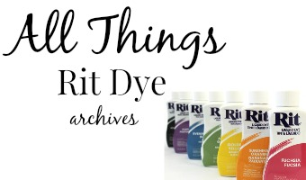 All things Rit dye archives