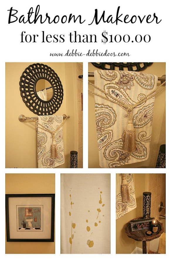 Bathroom Makeovers For Less bathroom makeover for less than $100.00 - debbiedoos