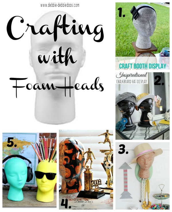 Crafting with foam heads #makeitfuncrafts #debbiedoos