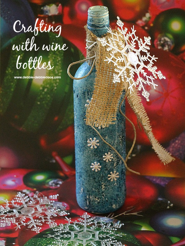 Recycled Wine Bottle Christmas Craft Idea Debbiedoos Custom Empty Wine Bottle Christmas Decorations