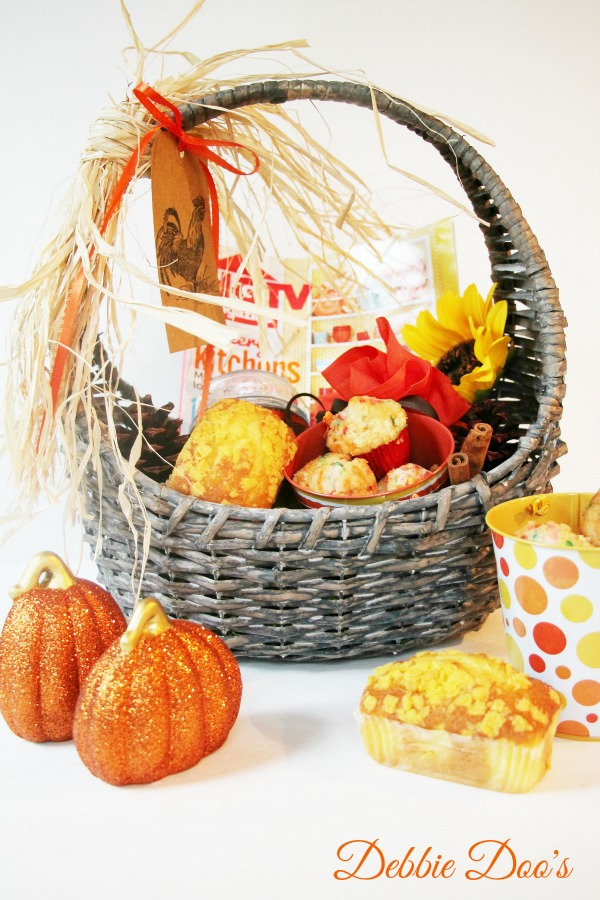 Give bakery because the ultimate hostess gift basket idea #debbiedoos