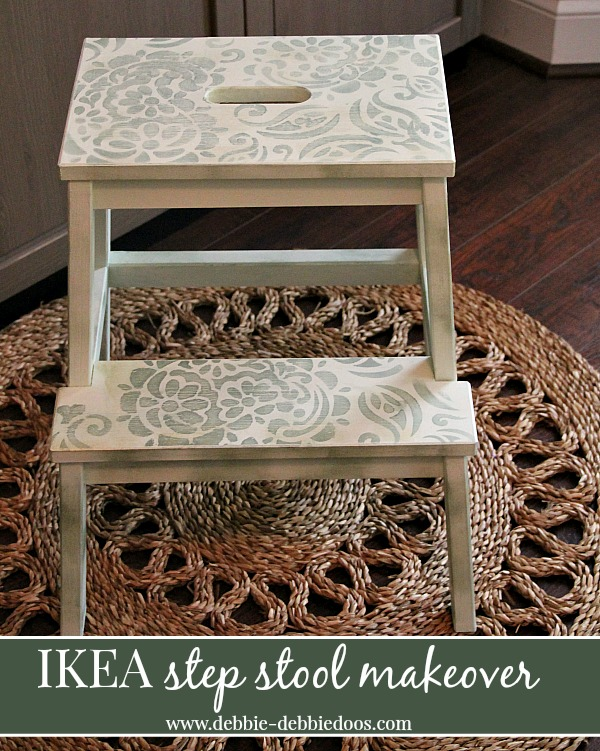 Ikea step stool makeover with chalky paint