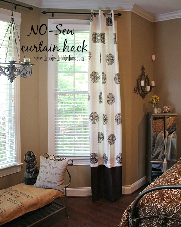 No Sew curtain hack