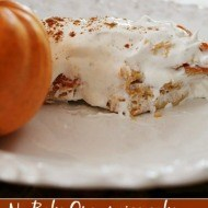 Pumpkin spice no bake Oreo dessert