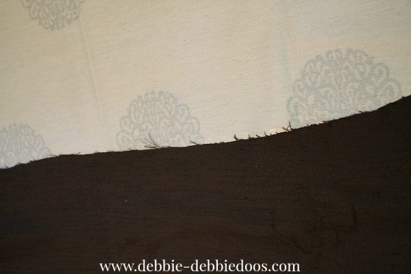 No sew hemming length to drapes