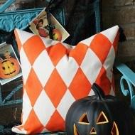 Halloween Harlequin Paint A Pillow