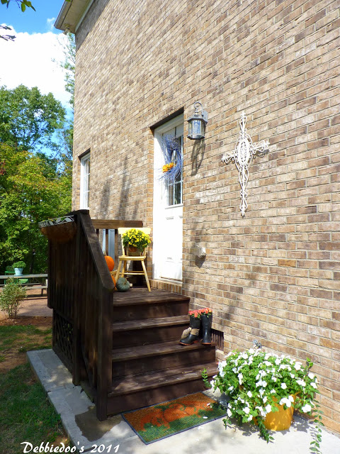 Side porch stained with Jaco bean stain