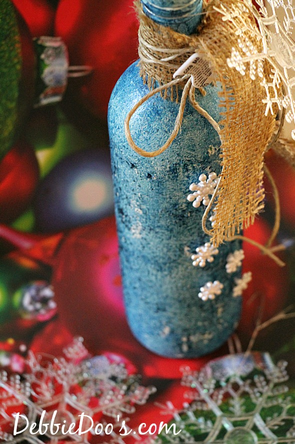 recycled wine bottle christmas craft idea debbiedoos - Christmas Bottle Decorations