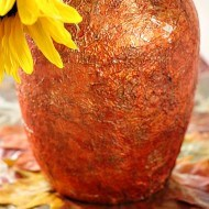 Embossed foiled dollar tree vase