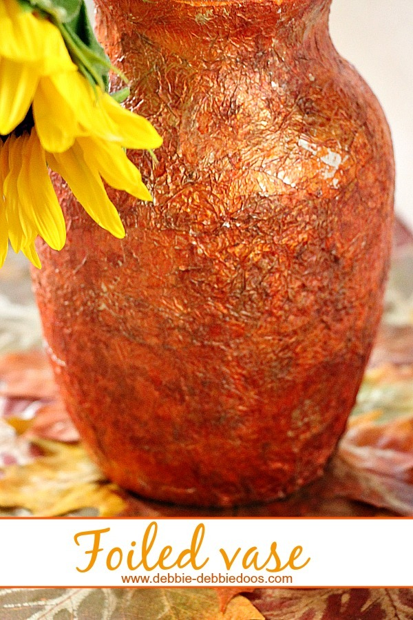 embossed foiled vase