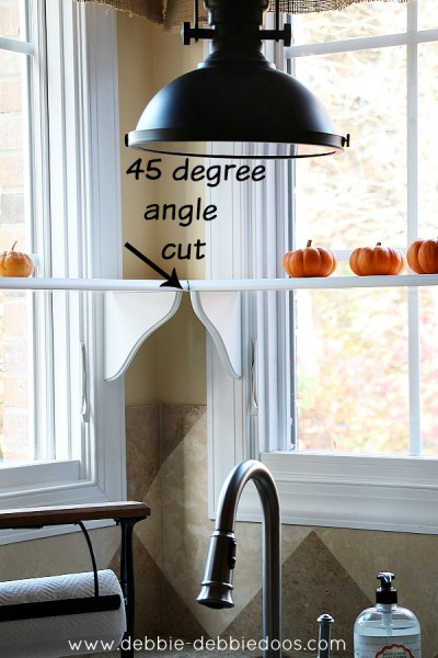Adding Kitchen Window Shelving With 45 Degree Angle Cuts For Corner Kitchen  Window Shelves