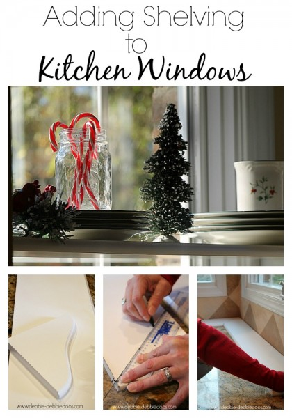 Adding shelving to the kitchen windows