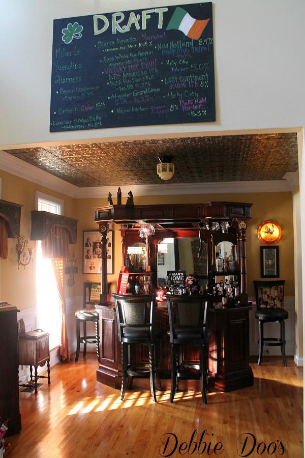 Chalkboard beer menu