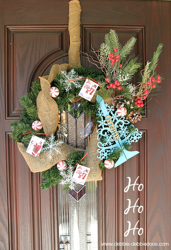 Traditional classic evergreen Christmas wreaths. #debbiedoos