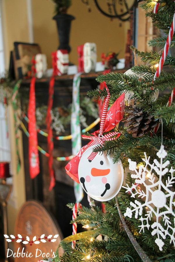 Dollar tree Christmas tree and mantel decorating ideas