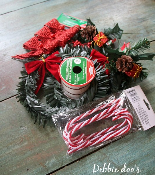 Dollar tree Christmas wreaths