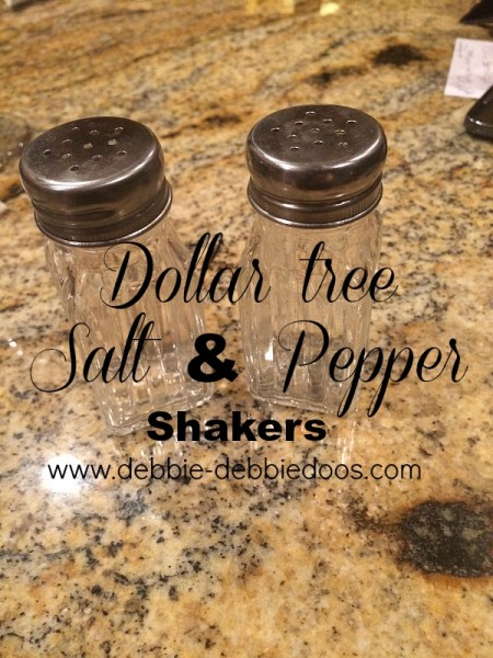 Dollar tree salt and pepper shakers craft idea