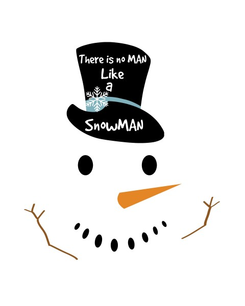 No man like a snowman