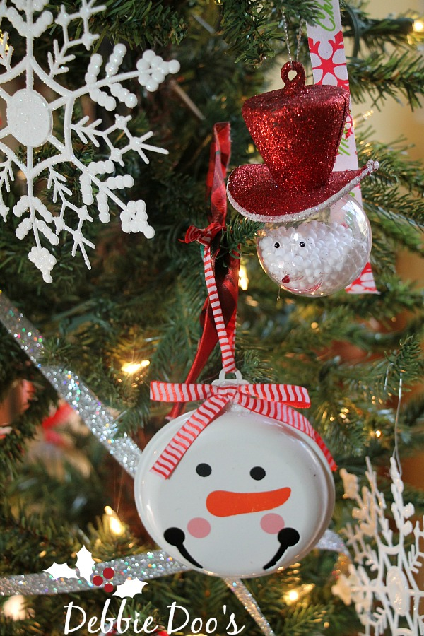 Snowman Christmas tree theme - Debbiedoos