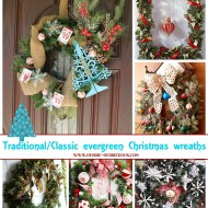 Traditional classic everygreen wreaths