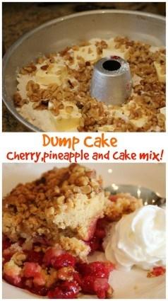 dump cake cherry and pineapple