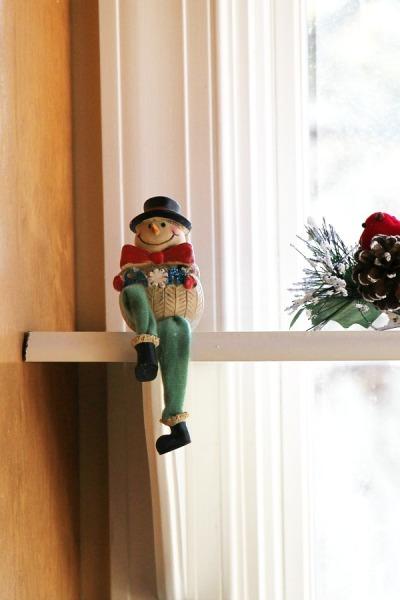 Dollar tree Snowman for the ledge