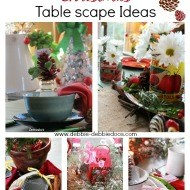 Christmas table scape ideas