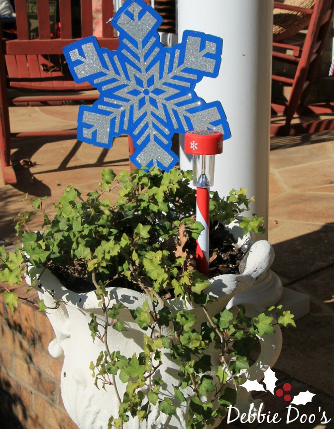 Winter urns for Holiday decorating
