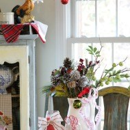 Holiday decor vignettes
