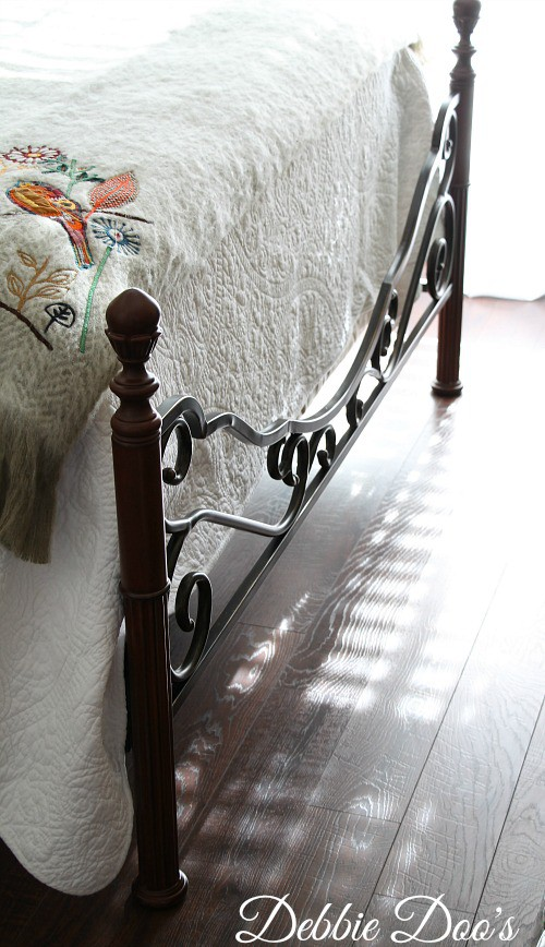 Footboard of iron bed from overstock.com