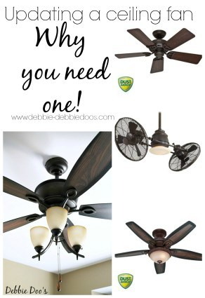 updating a ceiling fan