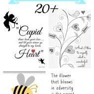 20+ Free Valentine printables
