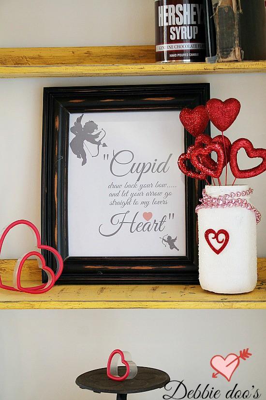 Cupid printable framed