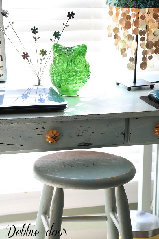 Painted thrift store chair with Annie Sloan