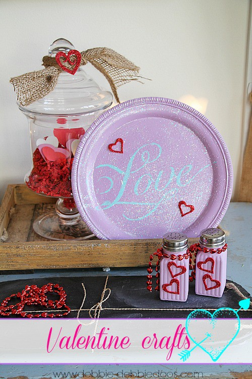 Valentine crafting with dollar tree items